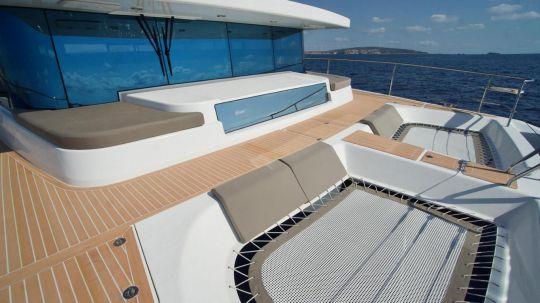 Le mini trampoline du Silent Yachts