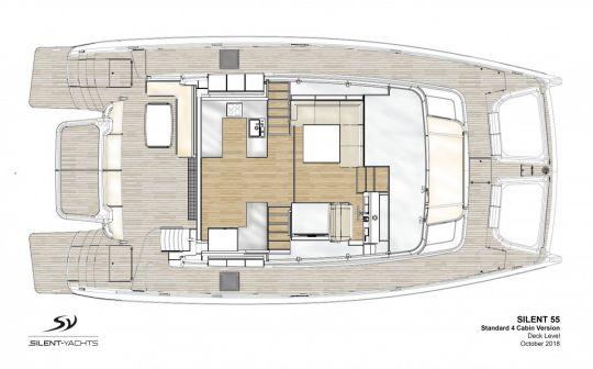 Le plan d'aménagement du Silent Yachts 55