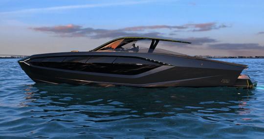Le Tecnomar Lamborghini 63 et son T-Top rigide