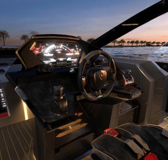 Le tableau de bord du Tecnomar Lamborghini 63