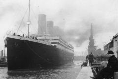 The Titanic in Southampton, before his departure