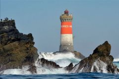 The Lighthouse of the Black Stones in Finistère