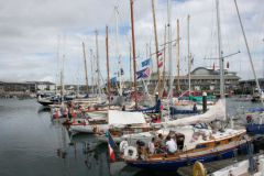 Flotilla of the Plymouth La Rochelle race in the port of Cornwall