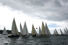 Start of the first stage from Plymouth - La Rochelle