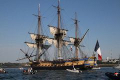 The Hermione during the Great Holiday Parade of Brest 2016