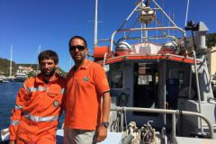 Vincent and Arnaud, crew members on the SNS 063