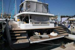 Lagoon Seventy 7 at the pontoon at the Cannes boat show