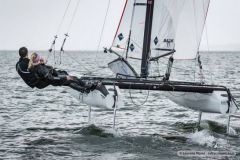 Test of the Nacra 17 with foils