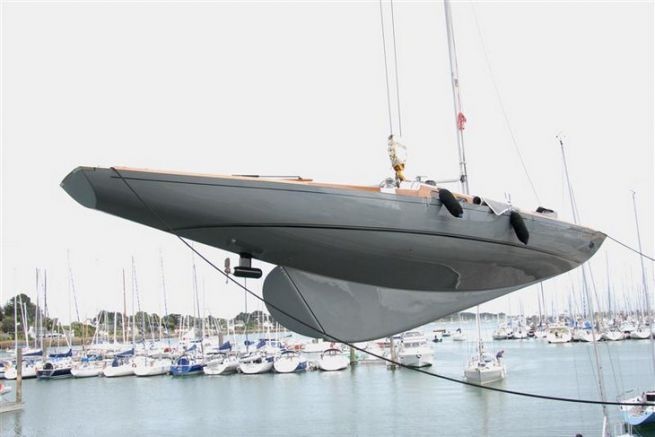 Electric Pod On A Sailboat The Propulsion Of The Ecolos