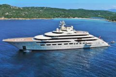 The superyacht Dilbar, the largest yacht in the world in volume
