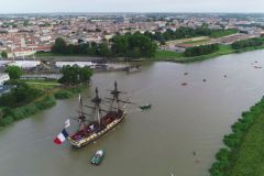 The Hermione back in Rochefort