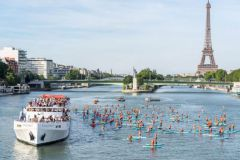 Start of the rescue paddle rally at sea on the Seine