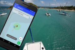 SailGrib AA application monitors your anchorage