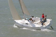 Advantage to the keelboat and outboard version for performance enthusiasts.