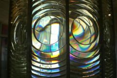Fresnel lens at the top of the Saint-Mathieu lighthouse