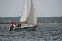 The keelboat version is more powerful in the weave than the dinghy.