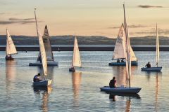 West Kirby lake evening sail