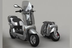 The XOR folding electric scooter