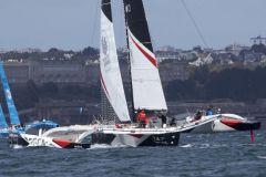 The GCA group trimaran at the Multi50 Grand Prix in Brest