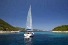 Narrow passage in the Greek Islands