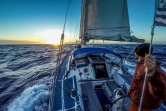 Sailboat Maewan in solo transat