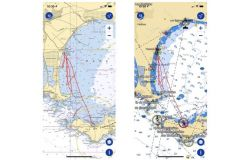 TZ iBoat offers the possibility to display 2 types of charts: Raster (left) or vector (right)