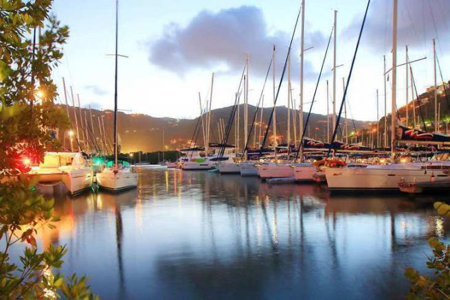 Sailing yacht rental base The Moorings